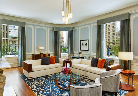 The Luxury Collection® unveils the Palace Hotel's redesigned guestrooms including the elegant State Suite.