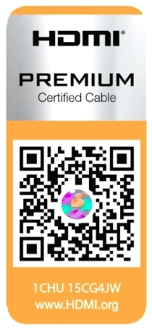 Premium HDMI Cable Certification Program Label (Graphic: Business Wire)