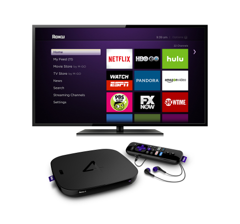 The new Roku 4 streaming player. (Photo: Business Wire)