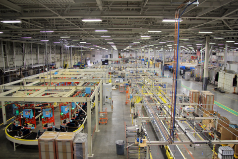 The new GE Zoneline production line on target for full production the first quarter of 2016. (Photo: GE)