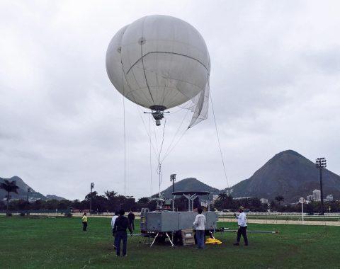 Logos Technologies' Simera sensor on an ALTAVE Omni aerostat in Rio de Janeiro, Brazil (Photo: Business Wire)