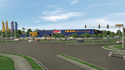 Architectural Rendering of Proposed IKEA Jacksonville (Opening Fall 2017) (Photo: Business Wire)