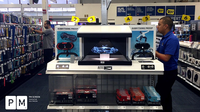 PM SCREEN takes standard and boring retail displays to the next level