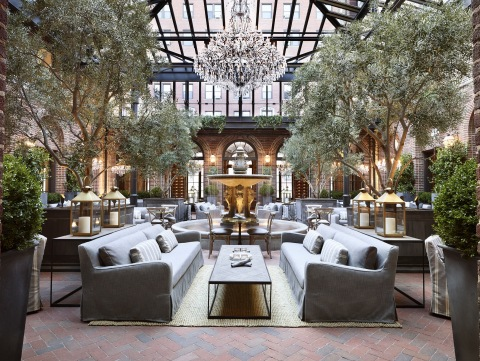 Level One - Grand Courtyard featuring new pyramidal glass and steel structure and central location for the Gallery's hospitality experience, conceptualized in partnership with restaurateur Brendan Sodikoff. (Photo: Business Wire)