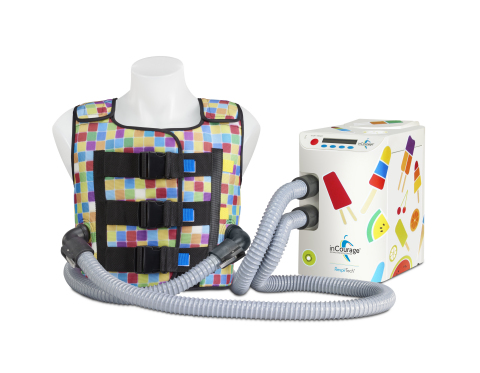 The inCourage(R) System from RespirTech features vibrant new vest designs and unit decals to help patients personalize their airway clearance therapy. (Photo: Business Wire)