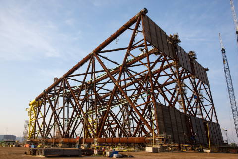 McDermott has been awarded a sizeable brownfield offshore project by Qatar Petroleum for the engineering, procurement, construction and installation (EPCI) of four wellhead jackets, similar to this file photograph. (Photo: Business Wire)