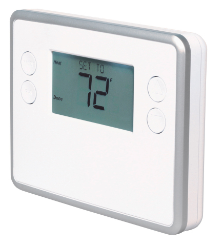GoControl Smart Battery Powered Thermostat-Angled (Photo: Business Wire)