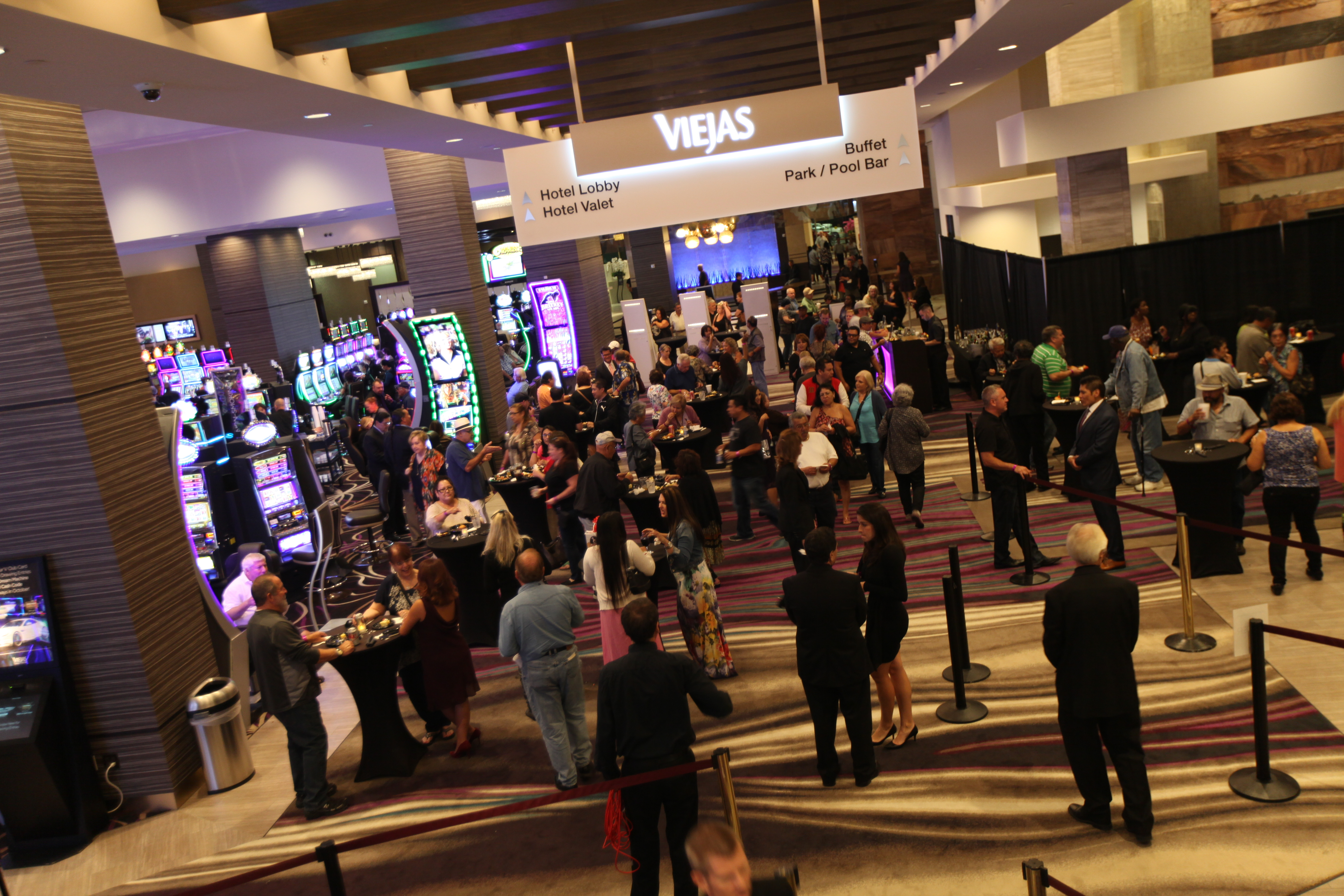 VIP guests at Viejas Casino's new expanded slot floor preview opening! (Photo: Business Wire)