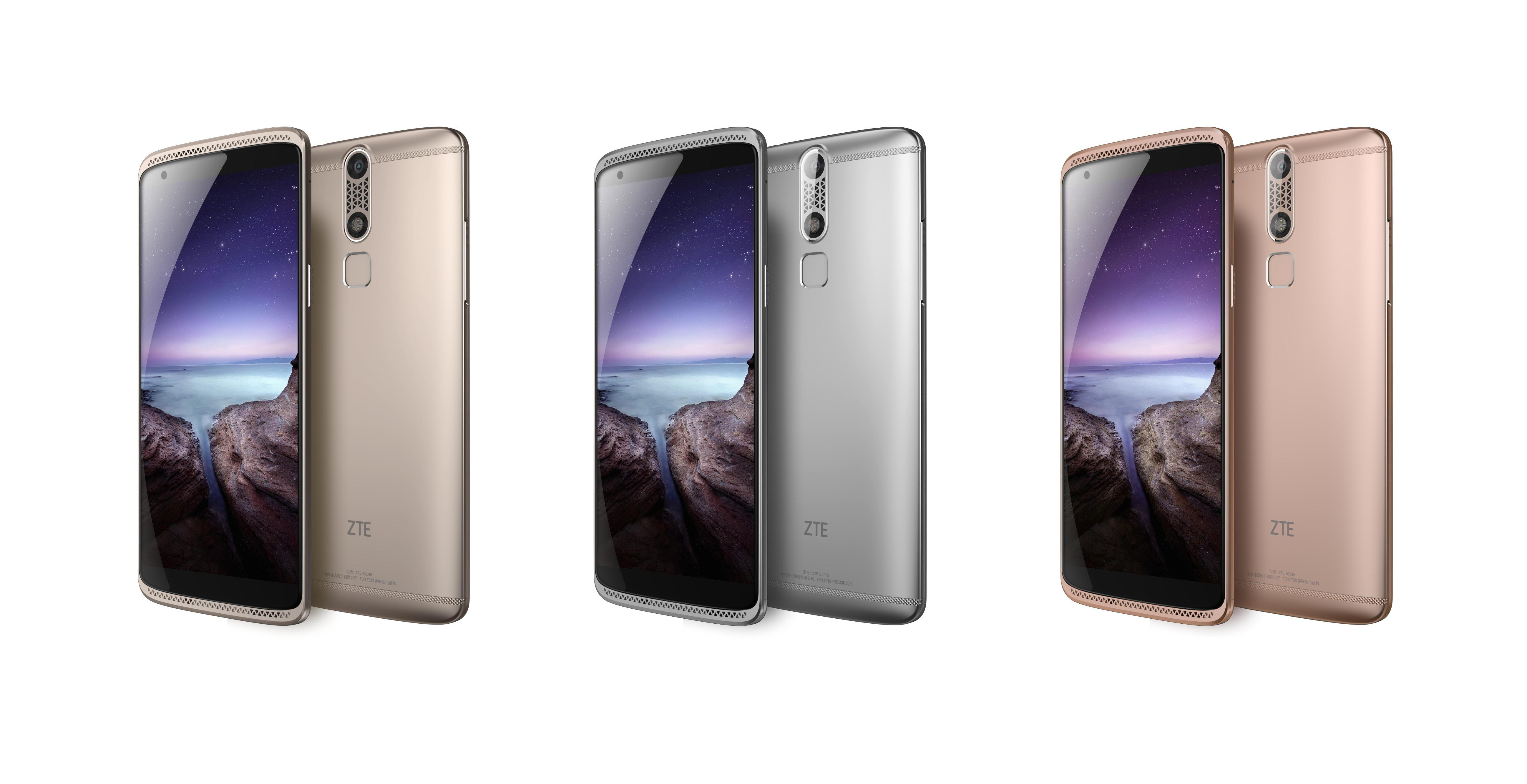 ZTE AXON mini available in three color options - Ion Gold, Chromium Silver and Rose Gold (Photo: Business Wire)