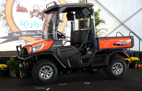 Kubota's one millionth wheeled-unit produced in the U.S., a Kubota RTV-X1120D, will be auctioned thi ...