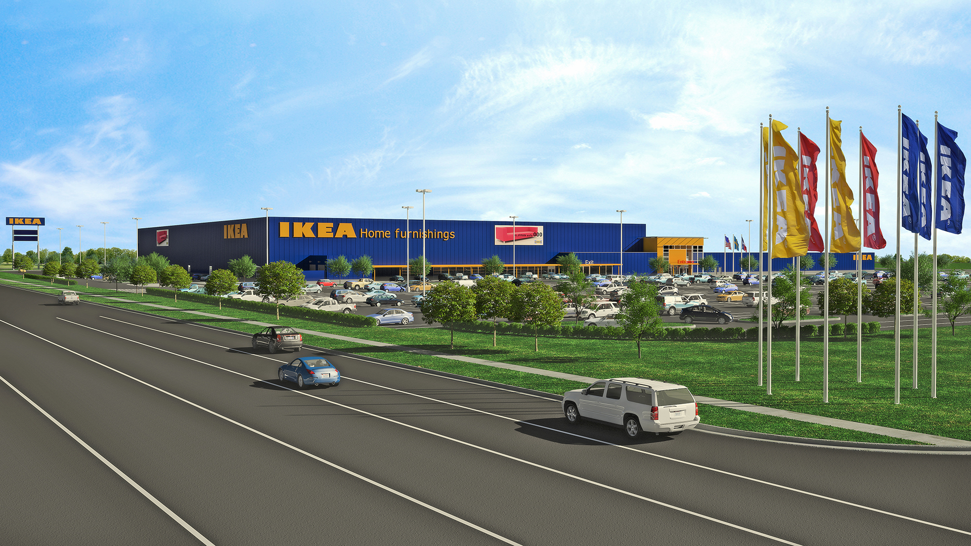 ikea submits plans for a store in grand prairie texas to open fall 2017 as 2nd dallas fort. Black Bedroom Furniture Sets. Home Design Ideas