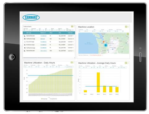 IRIS Portal: Asset Management at your fingertips. (Photo: Tennant Company)