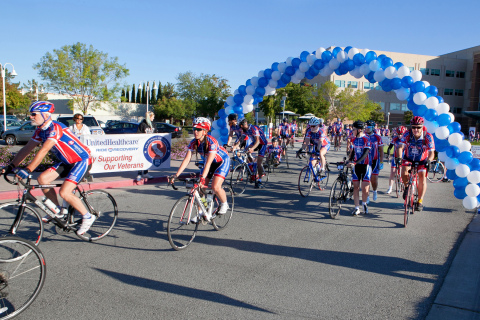 More than 200 injured veterans and their supporters will set off on Sunday, Oct. 18, on the UnitedHealthcare Ride 2 Recovery California Challenge, a seven-day, 516-mile bicycle ride from the VA Palo Alto Health Care System - the birthplace of Ride 2 Recovery - to the VA West Los Angeles Medical Center (Photo: Amy Sullivan).