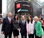 From left to right: William P. Magee, Jr. D.D.S., M.D., CEO and co-founder of Operation Smile; Shuyi Wang, vice president and Asian segment marketing manager for Enterprise Marketing Strategy and Segments at Wells Fargo; Rahul Baig, managing director and head of New York Corporate Banking at Wells Fargo; Della Ng, vice president of Integrated Marketing at Wells Fargo; and Kathleen S. Magee, president and co-founder of Operation Smile. (Photo credit: Jay Mandel)