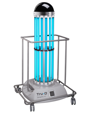 Germ-killing robot Tru-D SmartUVC can significantly reduce health care-associated infections caused by common multidrug-resistant organisms. (Photo: Business Wire)