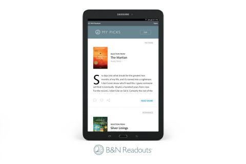 Barnes & Noble Introduces New B&N Readouts™, Bringing Bookstore-Like Browsing and Free Bite-Sized Content to NOOK® Digital Experience (Photo: Business Wire)