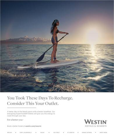 Westin's New Resort Advertising Campaign reminding guests to take better vacation days (Photo: Busin ...
