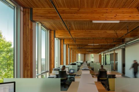 The Bullitt Center, The Miller Hull Partnership, DCI Engineers, (Photo: John Stamets)