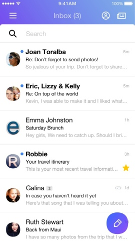 The New Yahoo Mail App (Graphic: Business Wire)