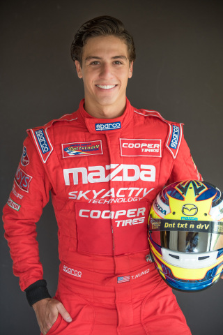 Teen race car driver Tristan Nunez is sponsored by Cooper Tire and offers safety tips for National T ...