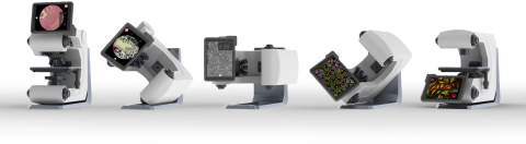 Developed by Echo Labs, the Revolve combines both an upright and inverted microscope into one instru ...
