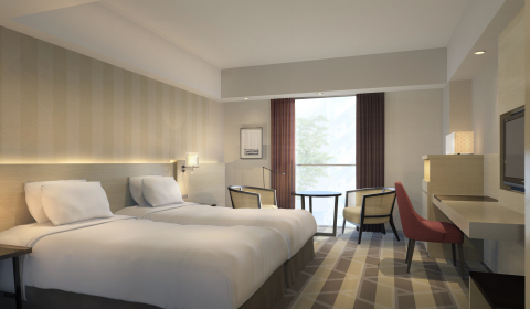 Guest room (Graphic: Business Wire)