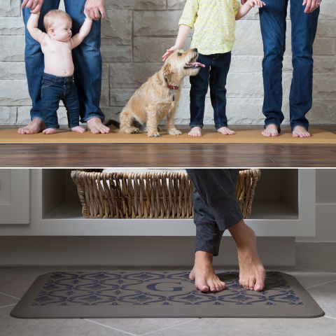 GelPro introduces new longer mats for today's modern kitchens and new contemporary designer patterns to fit any home decor. (Photo: Business Wire)