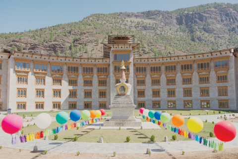 """Newly opened Le Meridien Paro, Riverfront photographed by Gray Malin, featured in his latest photo series, """"Bhutan, Land of Happiness"""" and part of the Follow Me partnership with Le Meridien. (Photo: Business Wire)"""