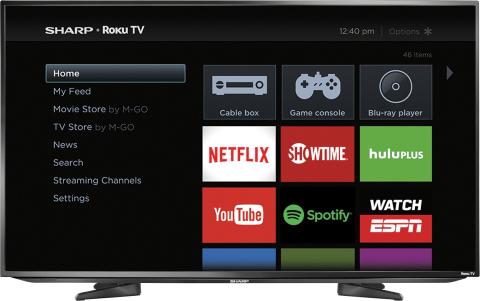 Sharp - 43 Class - LED - 1080p - Smart - HDTV Roku TV (Photo: Best Buy)