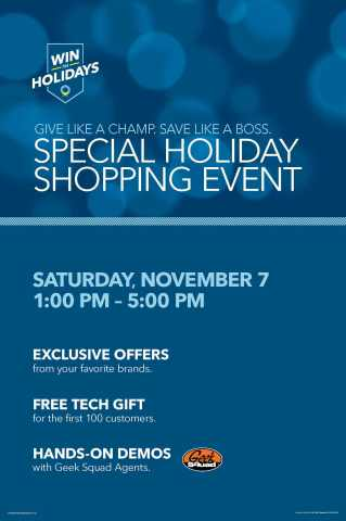 Special Holiday Shopping Event (Graphic: Best Buy)