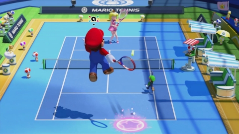 Mario and other residents of the Mushroom Kingdom head back to the tennis court on Nov. 20 in the Mario Tennis: Ultra Smash game for the Wii U home console. (Photo: Business Wire)