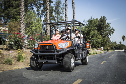 Kubota introduces the RTV-X1140, featuring the innovative K-Vertible cargo conversion system, which transforms the vehicle from two passengers and a large cargo bed to four passengers and a cargo bed. (Photo: Business Wire)