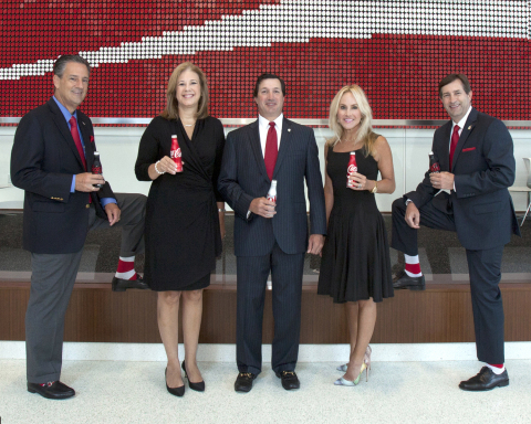 Pictured from left: Javier C. Goizueta, Hearts and Hands Gala Event Chair, Vice President of The Coca-Cola Company and President of the McDonald's Division Worldwide; Beth Howell, ARMHC President & CEO; Tom Kirbo, ARMHC Board Chair and Vickie Kirbo; and David Chandley, Fox 5 Chief Meteorologist and Event Host. (Photo: Business Wire)