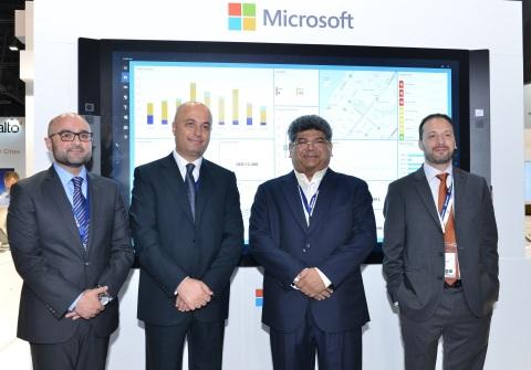 (L-R) Mr. Ahmed Waheed - Partner Business Manager, Microsoft Gulf, Mr. Samer Abu Ltaif, Regional Gen ...