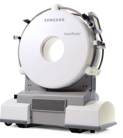 Samsung NeuroLogica's CereTom® CT scanner is a critical imaging tool used in mobile stroke units to help diagnose stroke in patients. The CereTom-based MSU has proven to reduce time-to-treatment for patients, as well as hospital length of stay. (Photo: Business Wire)
