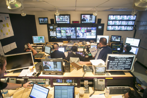 Behind-the-scenes of the NFL live stream on Yahoo (Photo: Business Wire)