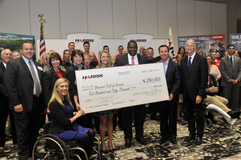 Harris Corporation today donated $250,000 to support completion of the Brevard Field of Dreams, an a ...