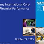 Albany International Corp. Q3 2015 Earnings Call Slides