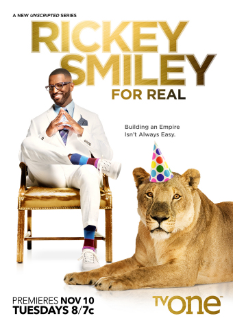 "Nationally syndicated radio personality, host and stand-up comedian Rickey Smiley returns to TV One with the premiere of his new docu-series ""Rickey Smiley For Real"" on Tuesday, Nov. 10 at 8 p.m. ET. (Graphic: Business Wire)"