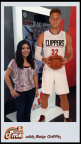 Sou Holland uses Toshiba augmented reality app, PictureMe to accompany Los Angeles Clippers' player, Blake Griffin in photo. (Photo Business Wire)