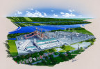 "A rendering of Panda Power Funds' ""Hummel Station"" – a new 1,124 megawatt natural-gas-fired combined cycle power plant (CCPP) to be built in Snyder County, Pennsylvania. (Photo: Business Wire)"