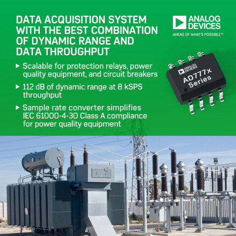 Analog Devices Improves Monitoring and Protection of Smart Grid Transmission and Distribution Equipment (Graphic: Business Wire)