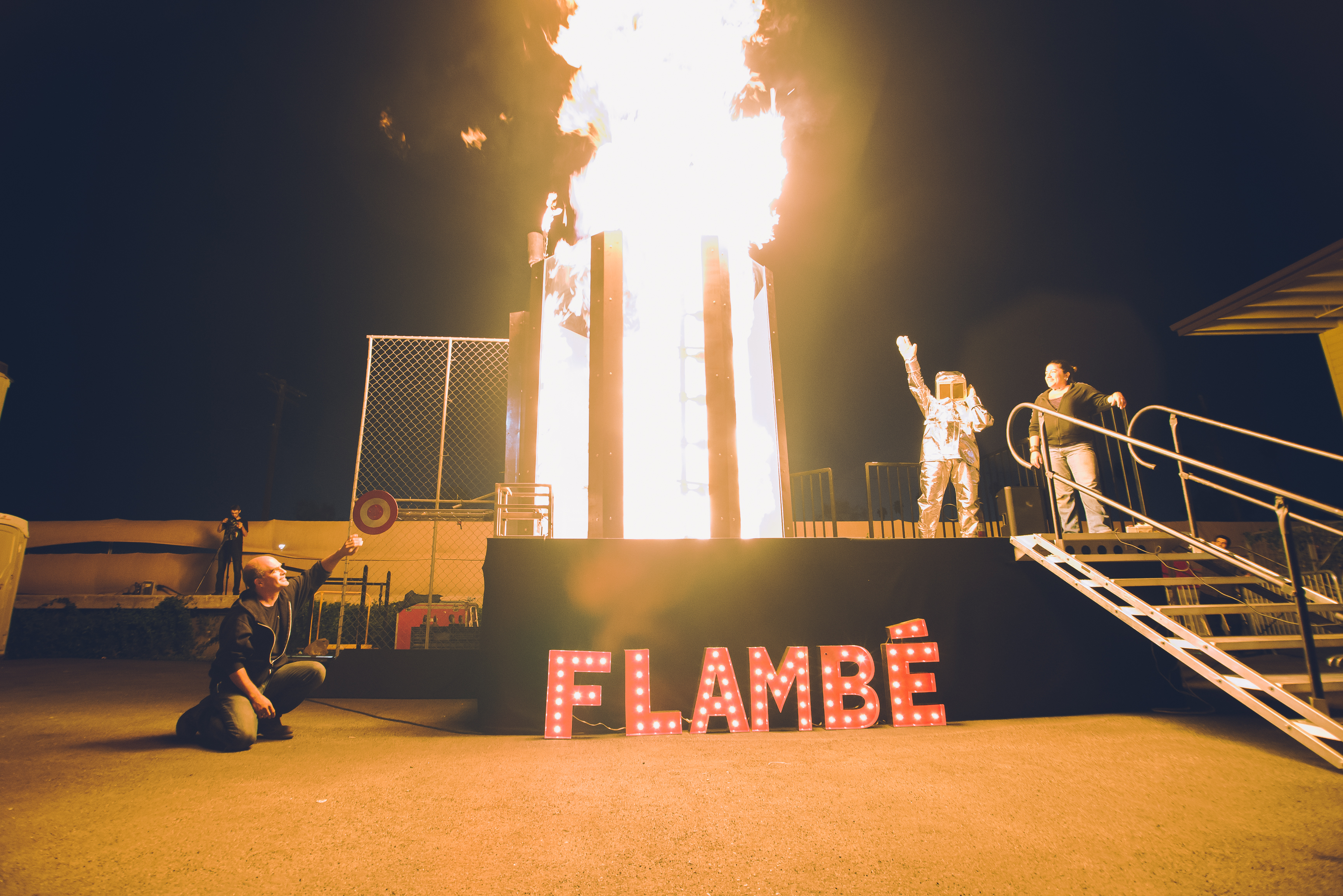 Dunk Tank Flambe. STEAM Carnival, Two Bit Circus (Photo: Business Wire)