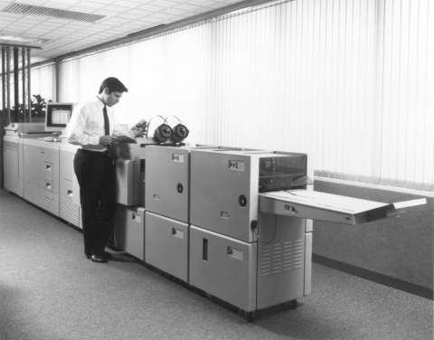 The Xerox DocuTech 135 Production Publisher ignited the digital print-on-demand revolution with its introduction in 1990, forever changing commercial printing and transforming the way people work in the office. (Photo: Business Wire)