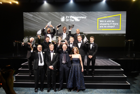 Geotab team at the EY Awards (Photo: Business Wire)