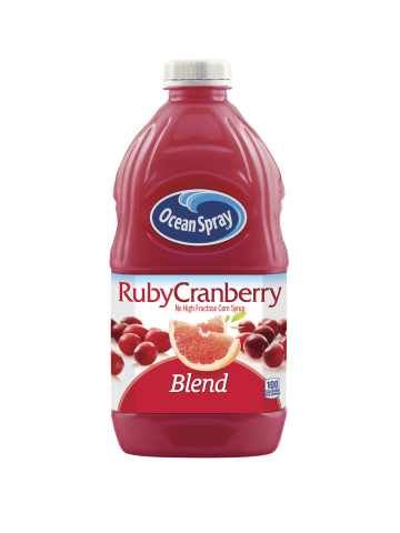 Ocean Spray® grapefruit collides with cranberry in new juice blend, Ruby Cranberry. (Photo: Business Wire)