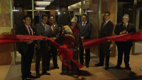 The Grand Opening ribbon cutting with the Viejas Tribal Council. (Photo: Business Wire)
