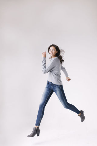 Fabrics made with INVISTA's new knit denim technology can qualify for different LYCRA® brands. Shown here are athleisure jeans made with LYCRA® SPORT fabric, shaping jeans made with LYCRA® BEAUTY fabric, and everyday jeans made with the LYCRA® brand. (Photo: Business Wire)