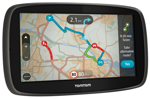The new TomTom GO range comes with Lifetime World Maps and Lifetime Speed Cameras. (Photo: Business  ...