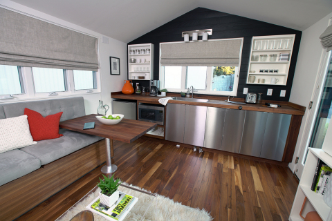 "Intel's smart tiny home, a ""living lab,"" showcases the smart home technologies possible today and also explores the foundational capabilities required to take the home from ""connected"" to truly ""smart."" (Photo: Business Wire)"
